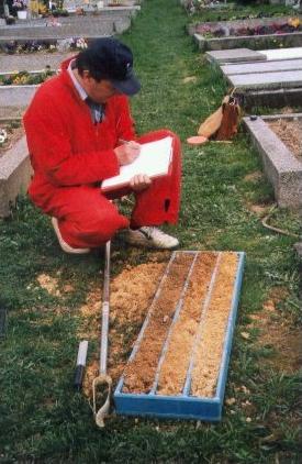 Hydrogeologický průzkum pohřebišť